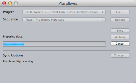 PluralEyes 2 main window