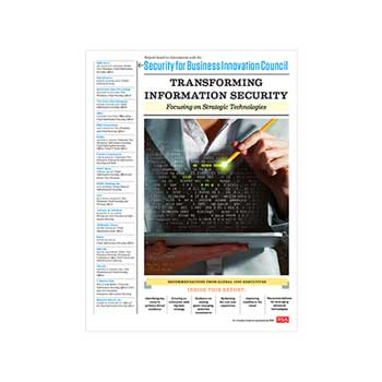 Transforming Information Security - Technologies: report cover