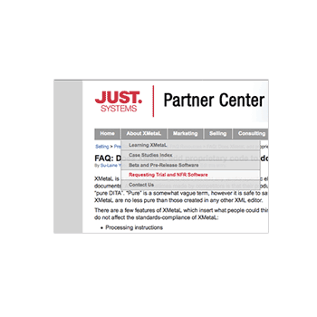 JustSystems Partner Center screenshot
